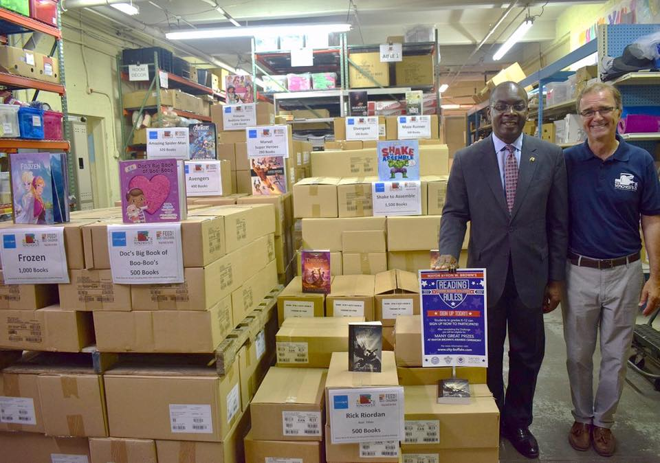 Mayor Brown Accepts Major Book Donation for 16th Annual Summer Reading Challenge