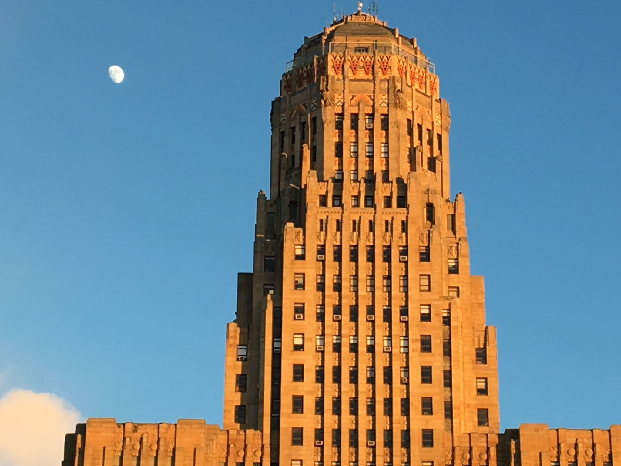 City Hall and Moon