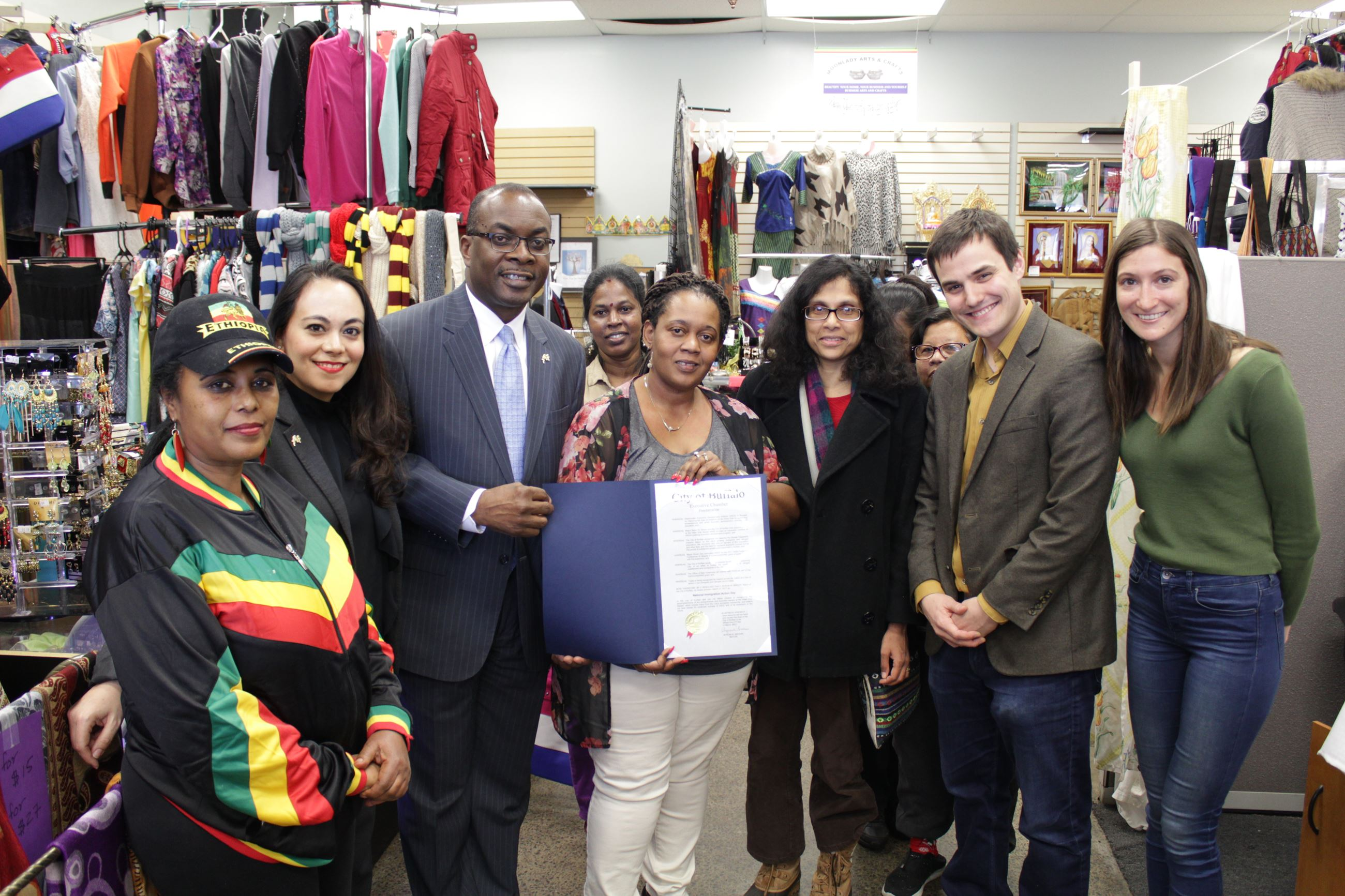 Mayor Brown Proclaims Today U.S. Conference Of Mayor's National Day of Immigration Action in Buffalo