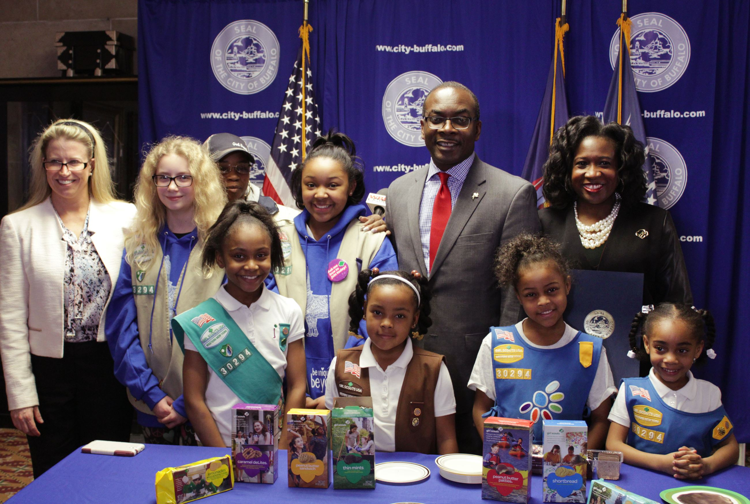 Mayor Brown Marked The 100th Year Of The First Known Sale Of Girl Scout Cookies With Proclamation
