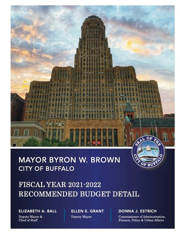 2021-2022 Recommended Budget Cover
