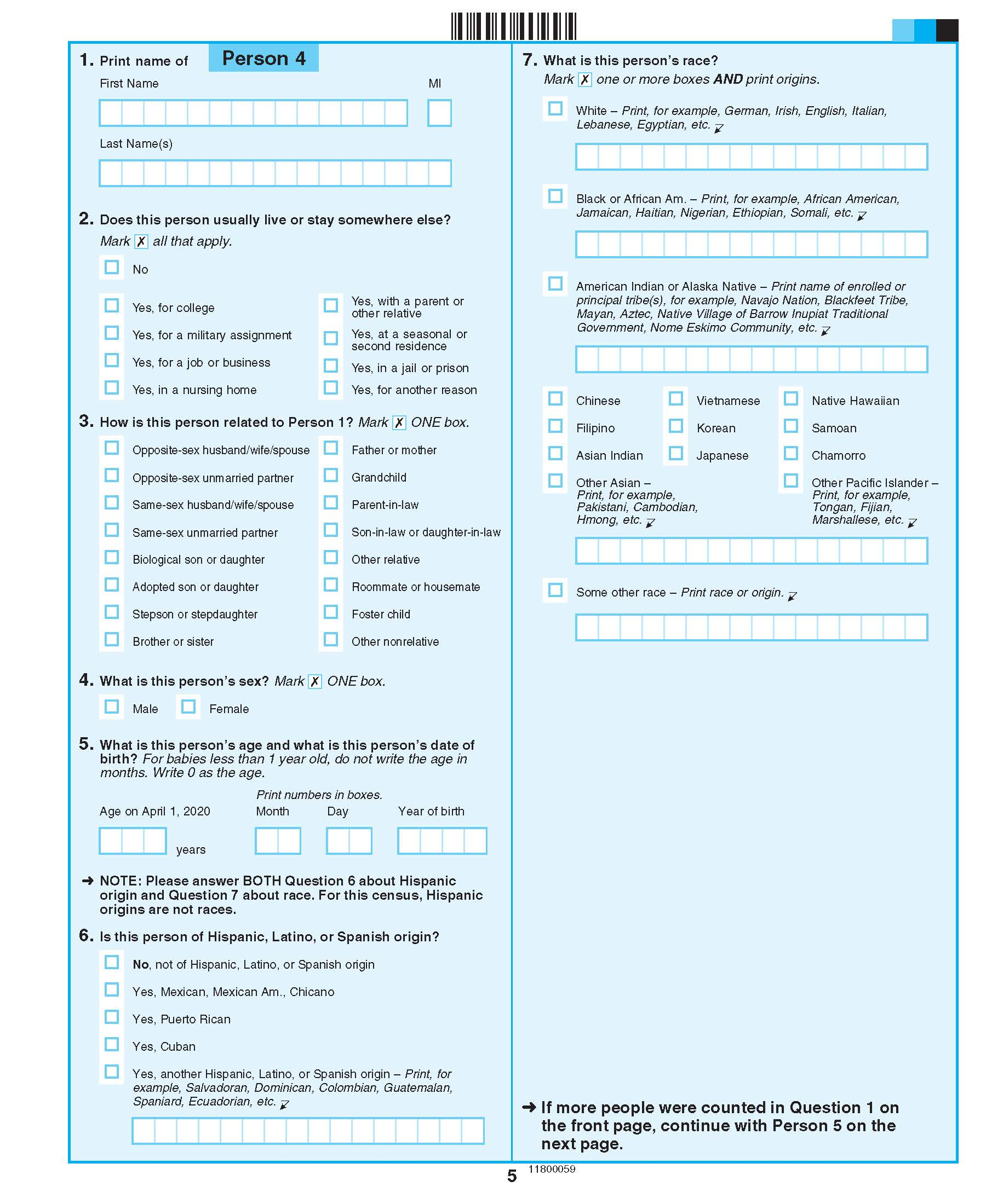2020 Census Questionnaire_Page_5