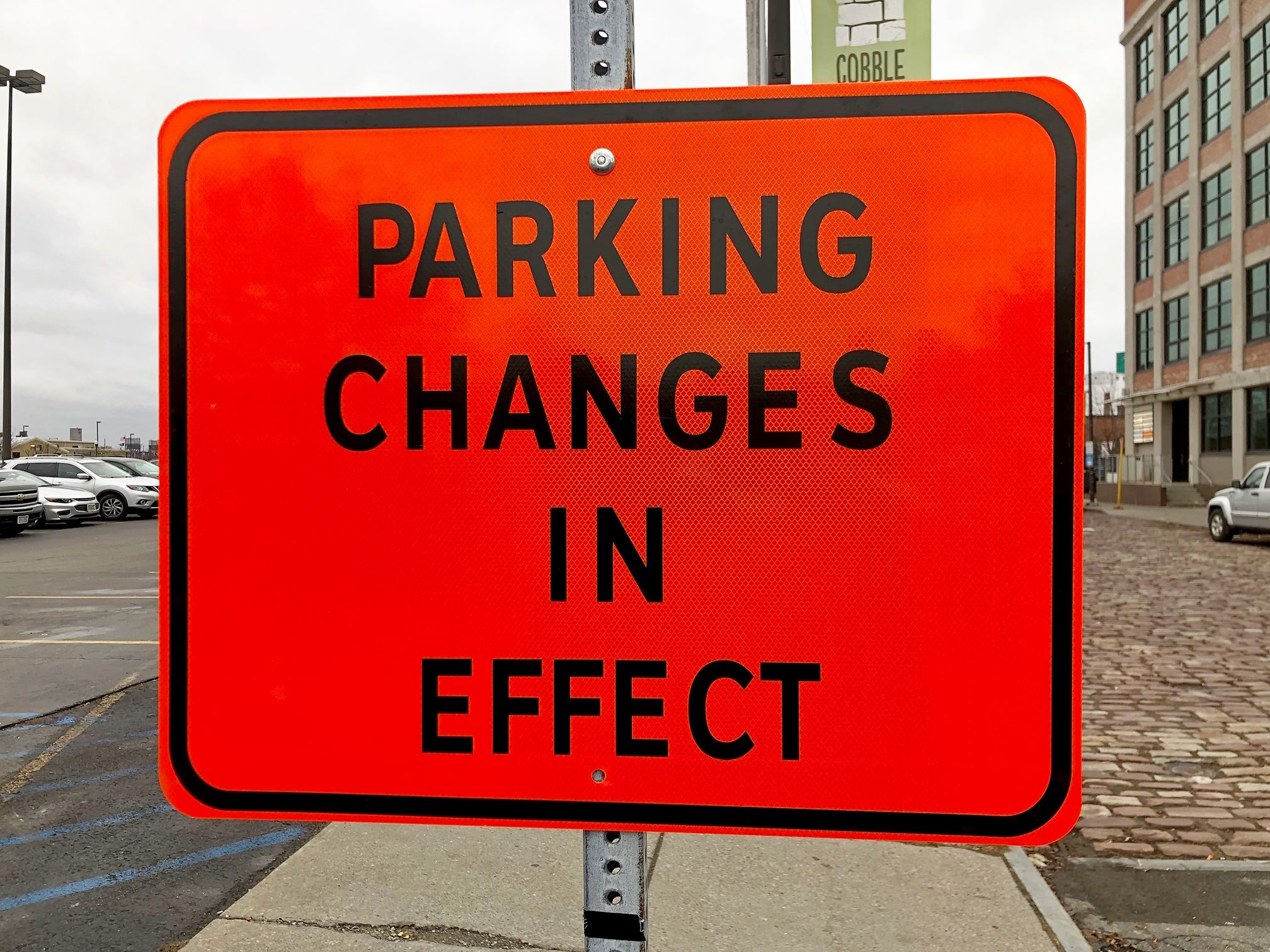 Parking Changes Sign