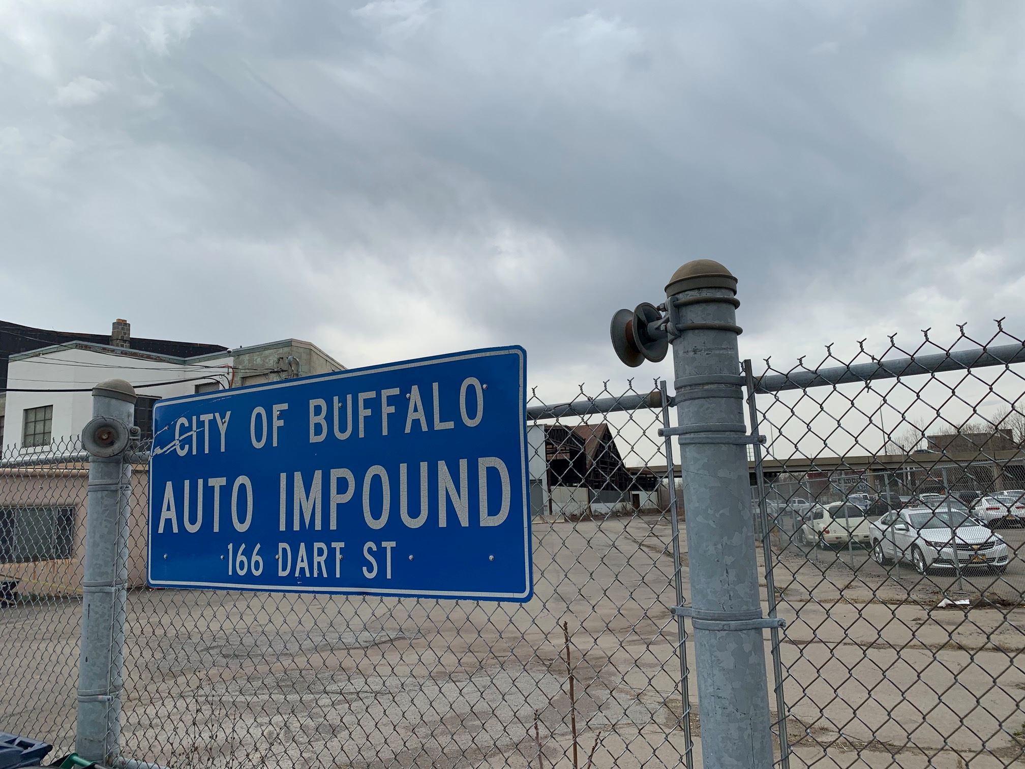 Dart St Impound sign