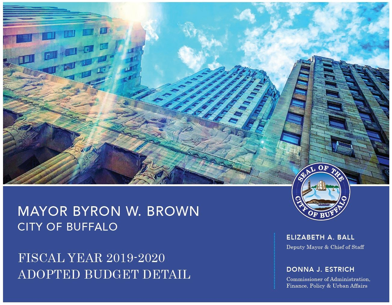 2019-2020 Adopted Budget Cover