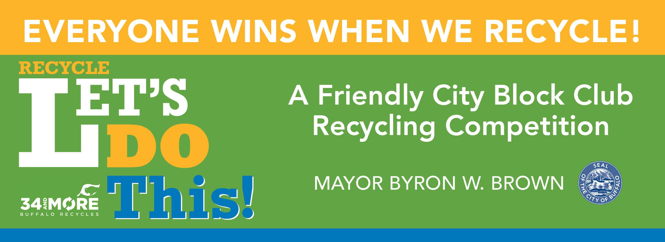 Lets Do This! A Friendly City Block Club Recycling Competition